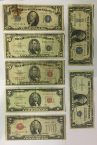USA Collection of 7 Notes F to VF