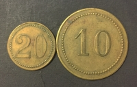 2 old Greek tokens