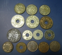 PALAISTINE Collection of 15 different coins (3 silver) from VF to AU