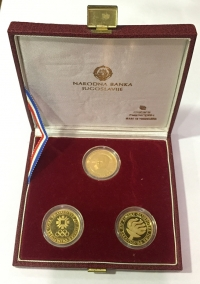 YUGOSLAVIA Set (3) Gold Olympic Coins Proof