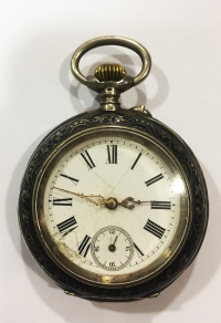 Silver pocket watch ANCRE