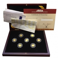 FIJI   7 GOLD Coins. 2006 FIJI 5 DOLLARS, Each Coin Is 1.24g (.585 Purity)+ COA RARE