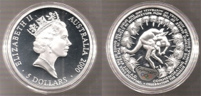AUSTRALIA 5 Dol 2000 Proof