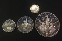 HAITI Set (3) 5,10,25 Gurdes 1968 Proof