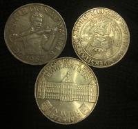 AUSTRIA 3 X 50 Shilling 1967 and 1972