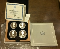 CANADA Set 4 Olympic Coins Proof 1976