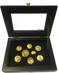 Silver replicas of ancient Greek coins (silver-goldplated)