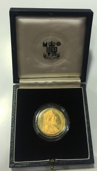 CYPRUS 50 Pounds 1977 Gold Proof