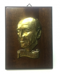 Andreas Papandreou Plaque silver