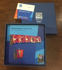collection [set 6] pins of olympic games 2004
