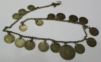 Silver jewlery gold plated with old silver coins