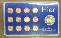 Set of 12 Euro Cents 1999-2002