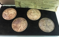 Collection of 4 Silver Medals