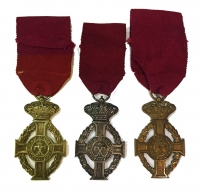 Set of 3 Medals Of King George