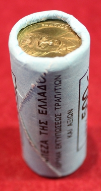 Roll of Bank of Greece 20 Drachmas 1998