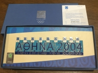 collection [set 9] pins of olympic games 2004