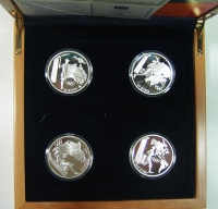 4 SILVER COINS 2004 PROOF
