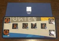 collection [set 8] pins of olympic games 2004