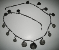 Necklace silver with turkish coins