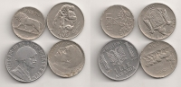ALBANIA Lot of 3 Dif. VF-XF Coins