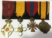 Bar of 4 medals of the 2nd World War