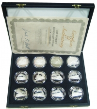 MARSHAL ISLANDS Collection of 12 Silver Coins 50 Dollars
