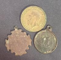 New Year Token 1955 and 2 old items