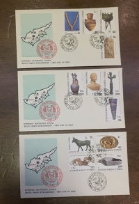 CYPRUS Set of 3 FDC 1983