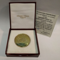 Silver (999) medal for the World Cup 1994 gold-plated