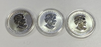 CANADA 3 Different Ounce 2011 and 2012 UNC