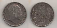 BRITISH INDIA 1 Rupee 1906 VF+