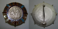 Large Badge with Kirillos and Methodios with enamel