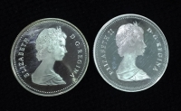 CANADA 2 X Dollar 1982 and 1986v Proof