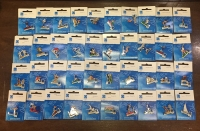 collection [set 40] pins of olympic games 2004