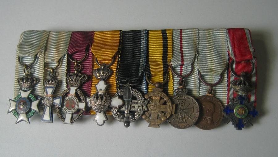 Bar of 9 Miniature Medals