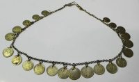 Antique jewlery with 22 gold-plated coins