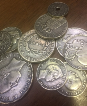 Collection of 10 Silver Copy Grek Coins