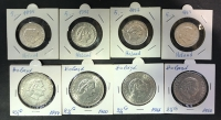 NETHERLANDS Collection of 8 Different Silver Coins