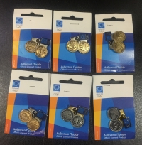 Collection Of 5 Olympic Pins Athens 2004 with Coins