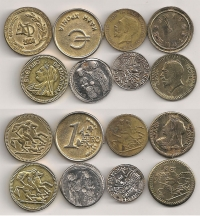 Lot with 8 Happy New Years tokens