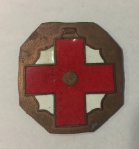 Trial of medal of Red Cross in bronze