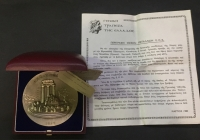 SILVER MEDAL General bank Of Greece COA Boxed