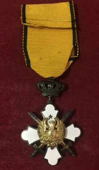 Gold Cross Order Of The Phoenix With Swords