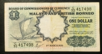 MALAYA AND BRITISH BORNEO 1 Dollar 1959 AU