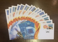 Collection of 16 FDC for the Olympic Torch travel within Greece