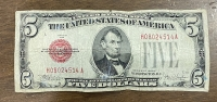 USA 5 Dollar 1928 Red  F