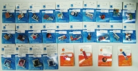 Collection of 28 Different Pins of Olympic Games 2004