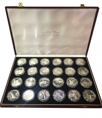 MARSHAL ISLANDS Collection with 24 Proof 50 Dollar coins for space