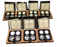 CANADA Complete Proof  set Olympic coins (7 Wood Box)