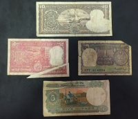 INDIA collection of 4 Error notes